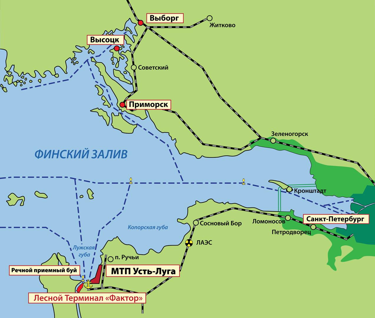Финский залив карта схема